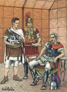 Julius Caesar before the battle of Munda (17 March 45 B.C.), the battle against the Roman Republic, and against the leaders of the Optimate.