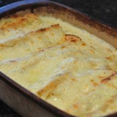 White Chicken Enchiladas Recipe - My Fridge Food & ZipList