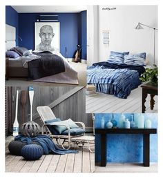 """Blue summer..."" by katelyn999 ❤ liked on Polyvore featuring interior, interiors, interior design, home, home decor and interior decorating"
