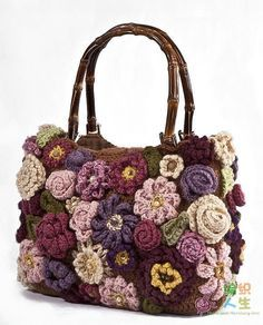 Crochet handbags or authentic Crochet handbags on sale then Visit website above click the tab for more selections . DIY Homemade Purple Crochet Flower Purse with Vanna's Choice Lion Brand Yarn Crochet purse flowers - not sure I would attempt this but the Bag Crochet, Crochet Shell Stitch, Freeform Crochet, Crochet Handbags, Crochet Purses, Irish Crochet, Crochet Crafts, Crochet Projects, Women's Handbags