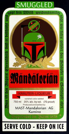 Vamers - SUATMM - Star Wars Inspired Alcohol to Help Get Drink on the Force - Mandalorian Label