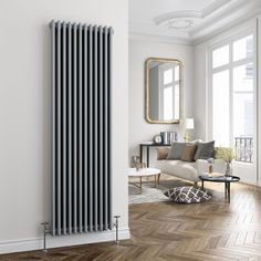 Anthracite 1800 mm x 324 mm Reina BONERA vertical designer RADIATORS Noir