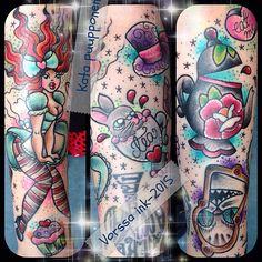 https://www.facebook.com/VorssaInk/, http://tattoosbykata.blogspot.com, #tattoo #tatuointi #katapuupponen #vorssaink #forssa #finland #traditionaltattoo #suomi #oldschool #pinup #aliceinwonderland