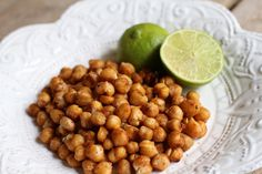 Chipotle lime roasted chickpeas