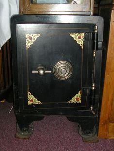 Scherer's Architectural Antiques of Nebraska « Antique Safe, Safe Vault, Deposit Box, Safe Lock, Character And Setting, Secret Rooms, Architectural Antiques, Dieselpunk, Custom Paint