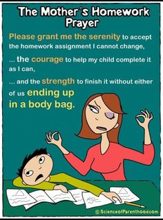 The Mother's homework prayer #parenting #school