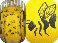 Vintage 80s OH BEEHIVE Yourself Novelty Bee Ugly by IntrigueU4Ever, $42.99