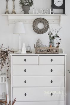 White interior and decoration in gray / white. You can find the latest decoration trends at . White interior and decoration in gray / white. You can find the latest decoration trends with us in Home Bedroom, Home Living Room, Bedroom Decor, White Decor, Home Decor Furniture, Room Inspiration, Decoration, Sweet Home, Interior Design