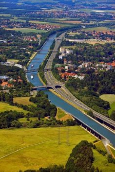 RHINE-MAIN-DANUBE CANAL, GERMANY. Also known as the Europa Canal, this 171-kilometre canal links three major rivers – the Rhine, Main and Danube – and allows ships to travel from the N...