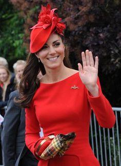 Alexander McQueen - Duchess of Cambridge Kate Middleton wears McQueen for Her Majesty The Queens Thames Diamond Jubilee