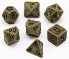 Get in the game with Ancient Dice (Cyan)! These battle-worn dice will truly inspire your...