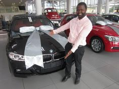 Dr. Nxumalo and his brand new 3 series. #Happycustomers