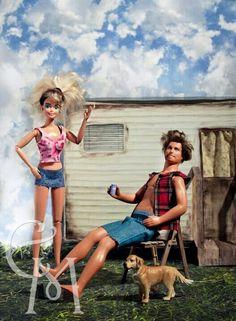 Trailer park Barbie and ken for Halloween!