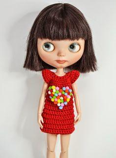 Muma on the Moon: Patrón vestido crochet para Blythe