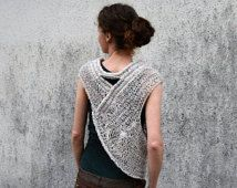 Katniss inspiriert Jägerin Kutte Weste in grau, dezent mehrfarbigen für Frühjahr Sommer