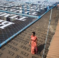 Sunlight Casts Shadows of Phrases Exploring Theories of Time in a Street Art Installation by DAKU Street Installation, Land Art, Urban Intervention, Colossal Art, Shadow Art, Indian Artist, Outdoor Art, Street Artists, Light And Shadow