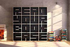 Read Your Book Case é um sistema modular de estantes, com design deEva Alessandrini e Roberto Saporiti para a marca italianaSaporiti.    A idéia é bastante simples, 37 módulos diferentes (correspondentes aos algarísmos e às letras do alfabeto) que podem ser combinados livremente