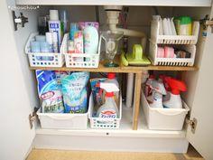洗面台下の収納アイディア画像