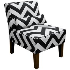 Skyline Furniture Armless Chair in Zippy Black-White  http://www.overstock.com/10520244/product.html?CID=245307