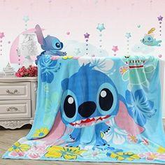 Cartoon Lilo Stitch Plush Soft Silky Flannel Blanket Throw Fancy Gift A+ Disney Stitch, Lilo Y Stitch, Cute Stitch, Stitch Toy, Stitch Cartoon, Manta Polar, Kids Blankets, Throw Blankets, Fleece Blankets