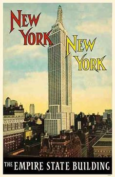 25x Vintage Travel Posters New York | The Travel Tester
