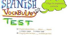 Spanish Vocabulary Test: Test (Imperativos, Pronominales)