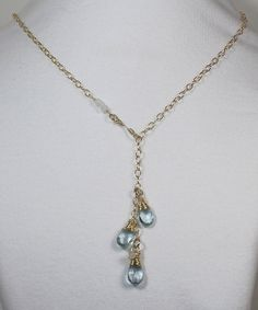 Blue Topaz Necklace Gemstone Necklace by LaurieRobertsJewelry, $64.99