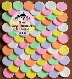 Candy Wafers Tutorial – Make Your Own Gingerbread House Shingles - Candy Wafers Tutorial – Make Your Own Gingerbread House Shingles – The Gingerbread Journal - Homemade Gingerbread House, Gingerbread House Candy, Gingerbread House Designs, Gingerbread Cookies, Gingerbread Village, Gingerbread Decorations, Necco Wafers, Candy Wafers, Christmas Baking