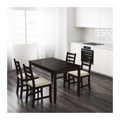 LERHAMN Tisch, schwarzbraun