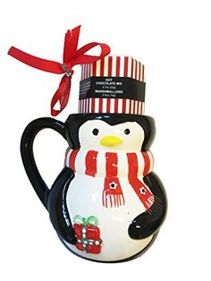 Penguin Mug with Hot Chocolate Mix and Marshmallows Sienna International USA http://www.amazon.com/dp/B018OLFGH8/ref=cm_sw_r_pi_dp_Aj5wwb1B92CYE #penguin #hotchocolate #chocolate #mug