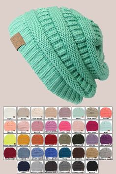 Gorgeous boutique crochet style boho beanies with C.C accent tag! So stylish and on trend. Such a great Winter hat for that snow bunny look! Perfect for skiing, snowboarding, or just wearing anytime!