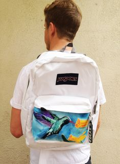 Custom Jansport backpack hand-painted by my brother! So beautiful.