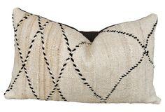 Moroccan Beni Ourain Wool  Pillow