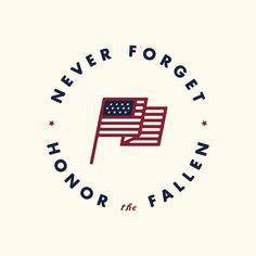 Never forget. Honor the fallen. #memorialday