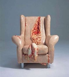 Flesh-Covered Furniture Sculptures - Jessica Harrison Covers Household Objects with Human Flesh (GALLERY):