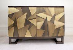 Rupert Bevan - Patinated Brass Sideboard – stained and lacquered walnut body with doors clad in interlocking brass tiles in varying degrees of patination Art Furniture, Bespoke Furniture, Cabinet Furniture, Luxury Furniture, Contemporary Furniture, Furniture Design, Side Board, Sideboard Cabinet, Modern Cabinets
