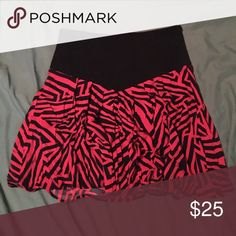 Kardashin Kollection skirt SUPER CUTE red and back high waist Kardashian Kollection skirt - side zip! I never wear it and it's only been out of my closet once! I love it so much! Kardashian Kollection Skirts