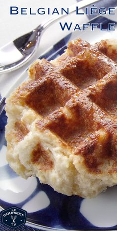 Sugary sweet treat for anytime of day. Liege Waffle Recipe Easy, Belgian Liege Waffle Recipe, Waffle Recipes, Sugar Waffles Recipe, Liege Waffles Recipe, Ma Baker, Belgium Food, Belgium Waffles, Waffle Toppings