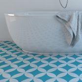 Moroccan Tiles - Floor Tiles - Floor Vinyl - Tile Stickers - Tile Decals - bathroom tiles - kitchen tiles by Web Roots, Lda made by . 48.62 at BOUF