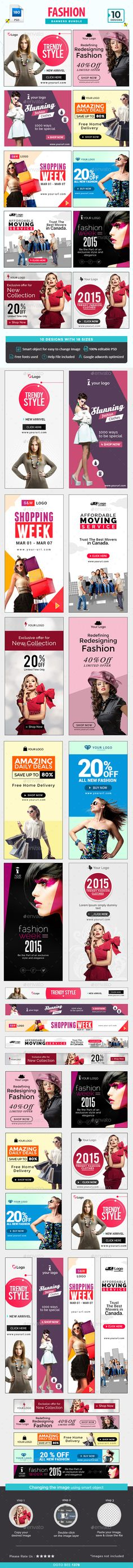 Fashion Banners Bundle  10 Sets  180 Banners — Photoshop PSD #style #studio • Available here → https://graphicriver.net/item/fashion-banners-bundle-10-sets-180-banners/16076205?ref=pxcr