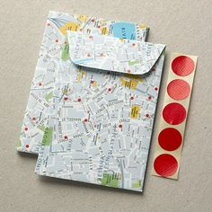 Map envelopes  Good way to organize for and during a trip and keep up with tickets!