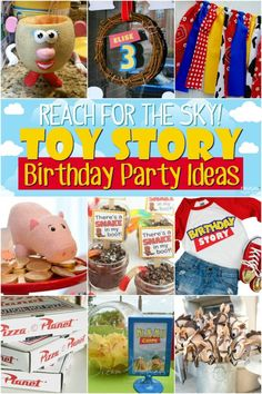 Have a Buzz and Woody fan at home? These Toy Story Party Ideas, birthday decorations, easy recipes and more create the most memorable celebration! Toy Story Birthday, Toy Story Party, 4th Birthday, Birthday Ideas, Cowboy Birthday, Birthday Parties, Cowboy Party, Pokemon Party, Pokemon Birthday