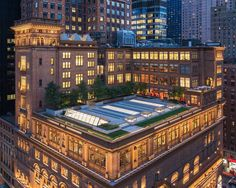 Focusing on the north and south towers, which were added to Carnegie Hall in 1894 and...