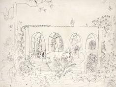 Raoul DUFY, Le patio, 1930