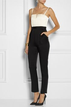 You can totally wear a jumpsuit to a #blacktie #wedding @alice + olivia