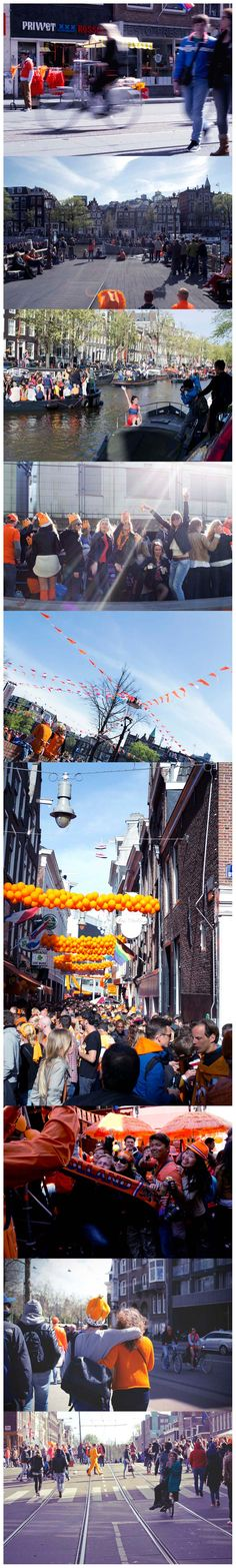 The King's Day in Amsterdam - 27th of April 2015