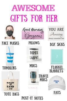 Check out these great gifts for her for any occasion all year! #giftsforher #personalizedgifts #trendygifts Personalized Gifts, Wedding Gifts, Gifts For Her, Best Gifts, Birthdays, Wedding Day Gifts, Anniversaries, Wedding Giveaways, Personalised Gifts