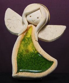 Ceramic Pottery, Pottery Art, Ceramic Art, Paper Clay, Clay Art, Pottery Angels, Clay Angel, Angel Crafts, Play Clay