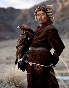 "A ""Kazakh"" Eagle Hunter ~ Mongolia."
