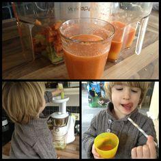 Sap maken van bleekselderij, wortel, tomaat, komkommer, appel in de slow juicer, dat kan je zelf!